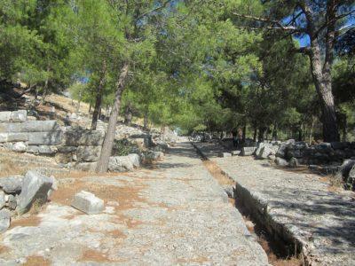 Priene: ancient street (Wiki)