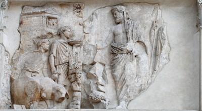 Ara Pacis - Aeneas founding Rome