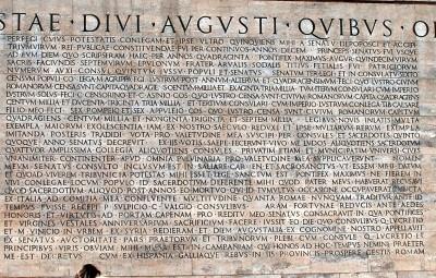 Res Gestae of Augustus - Ara Pacis