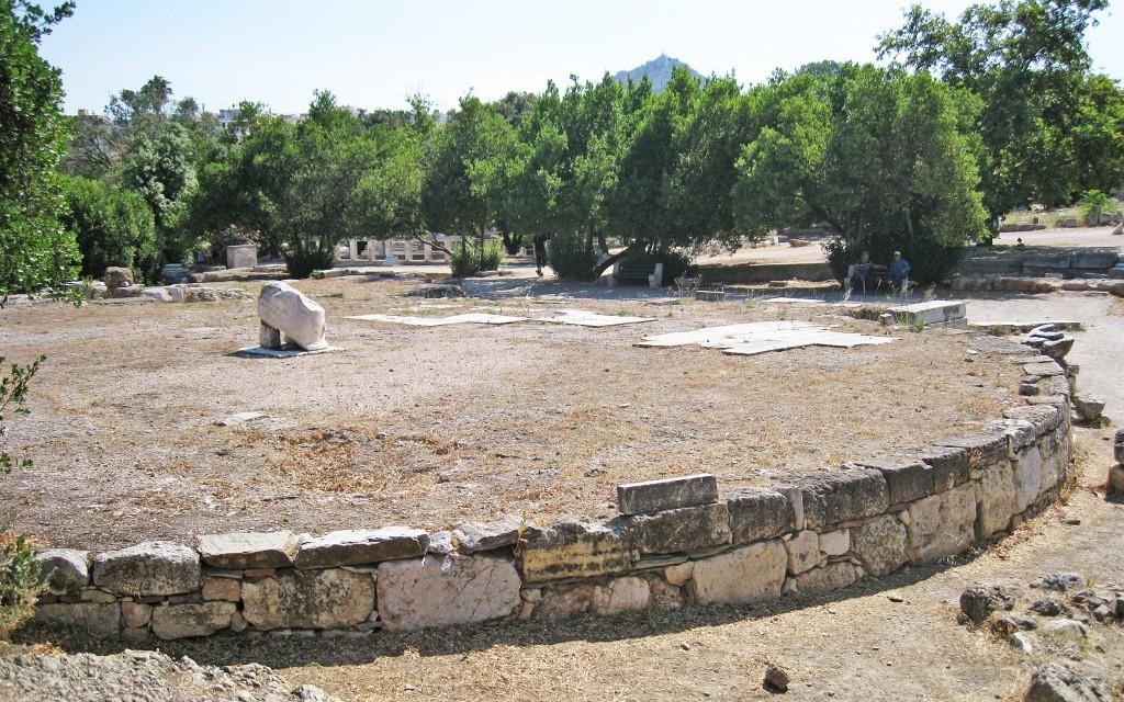 The circular tholos in the agora at Athens